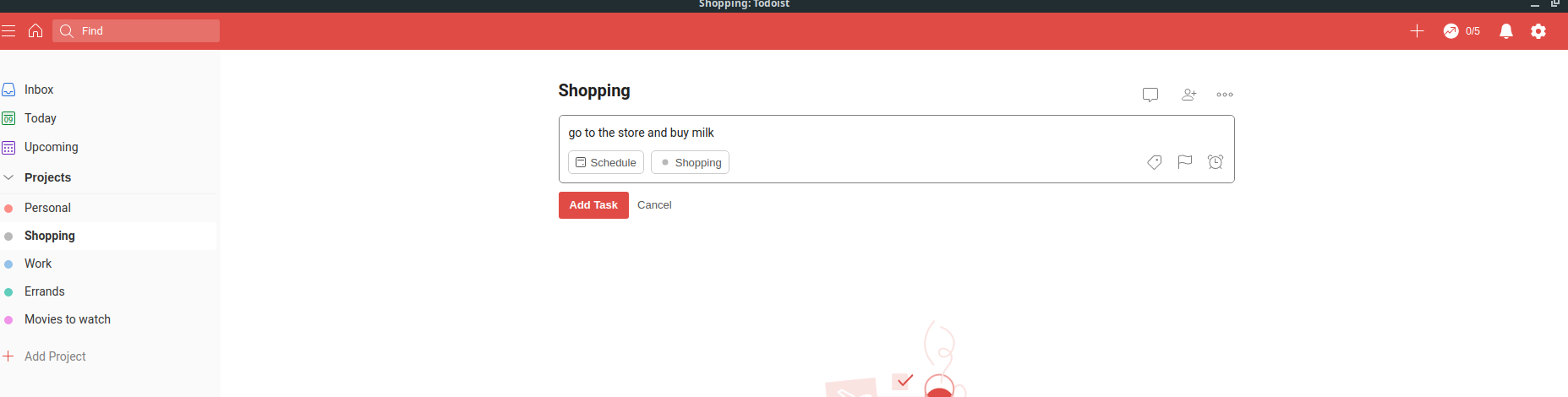 how to use the official todoist app on linux 2 How to use the official Todoist app on Linux