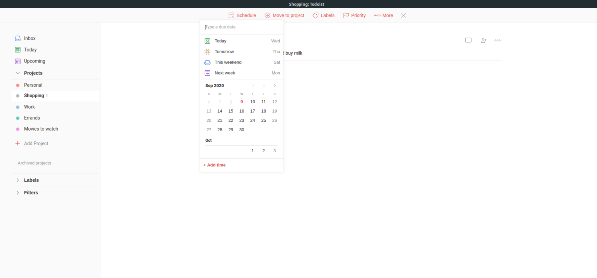 how to use the official todoist app on linux 3 How to use the official Todoist app on Linux