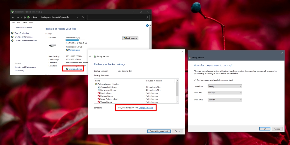 how to change backup schedule on windows 10 1 How to change backup schedule on Windows 10