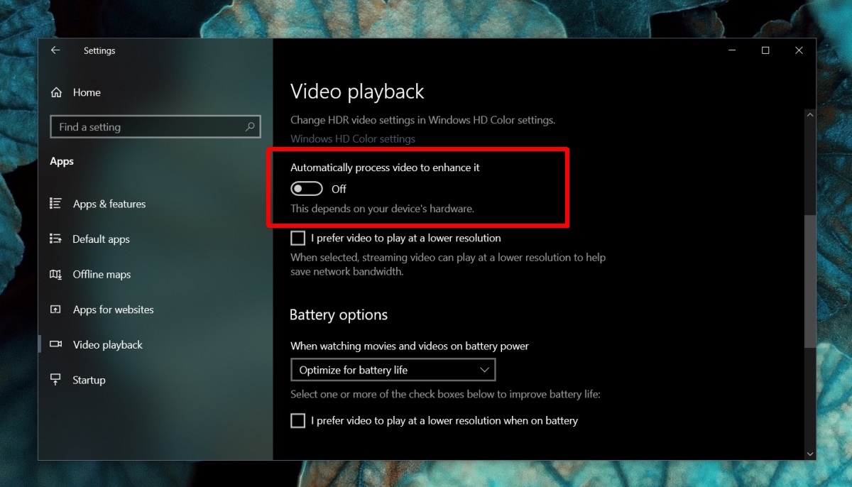 how to disable effects in movies tv on windows 10 1 How to disable effects in Movies & TV on Windows 10