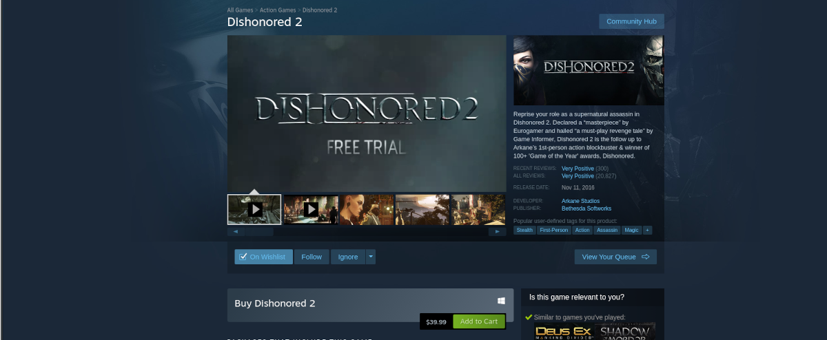 how to play dishonored 2 on linux 2 How to play Dishonored 2 on Linux