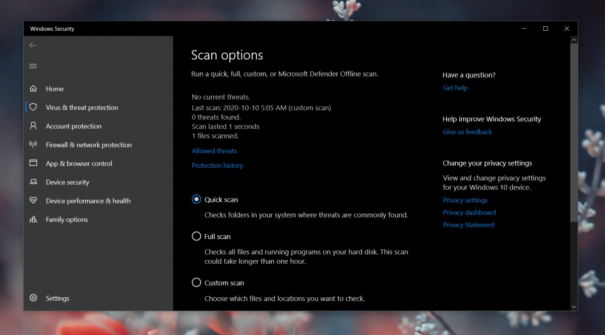 how to scan a file or folder with windows defender on windows 10 1 How to scan a file or folder with Windows Defender on Windows 10