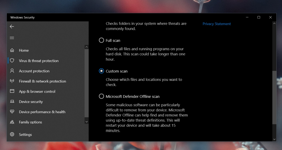 how to scan a file or folder with windows defender on windows 10 2 How to scan a file or folder with Windows Defender on Windows 10
