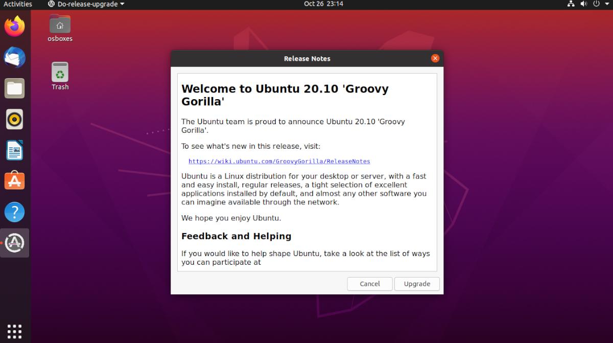 how to upgrade to ubuntu 20 10 3 How to upgrade to Ubuntu 20.10
