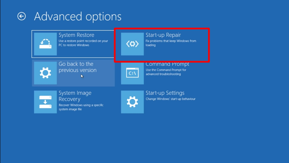 how to run startup repair on windows 10 2 How to run Startup Repair on Windows 10