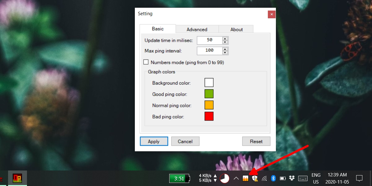 how to view ping on the system tray on windows 10 How to view ping on the system tray on Windows 10