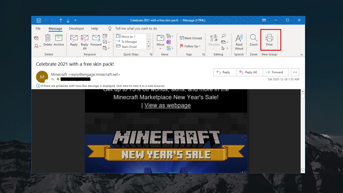 how to print an email on windows 10 2 How to print an email on Windows 10