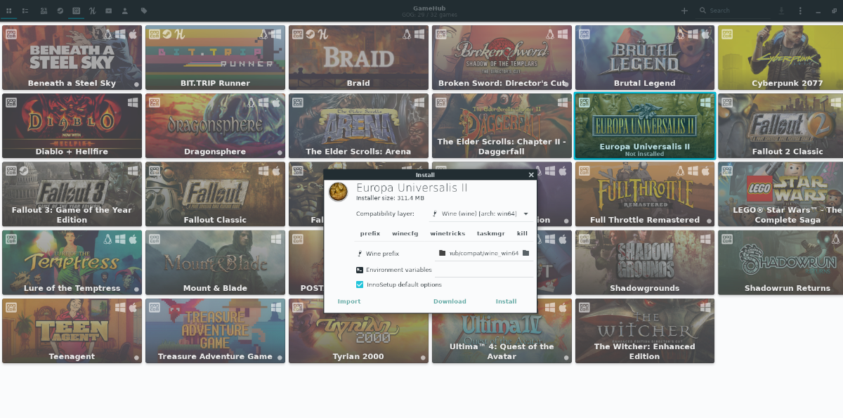how to use gamehub to download steam gog and humble bundle games on linux 3 How to use Gamehub to download Steam, GOG, and Humble Bundle games on Linux