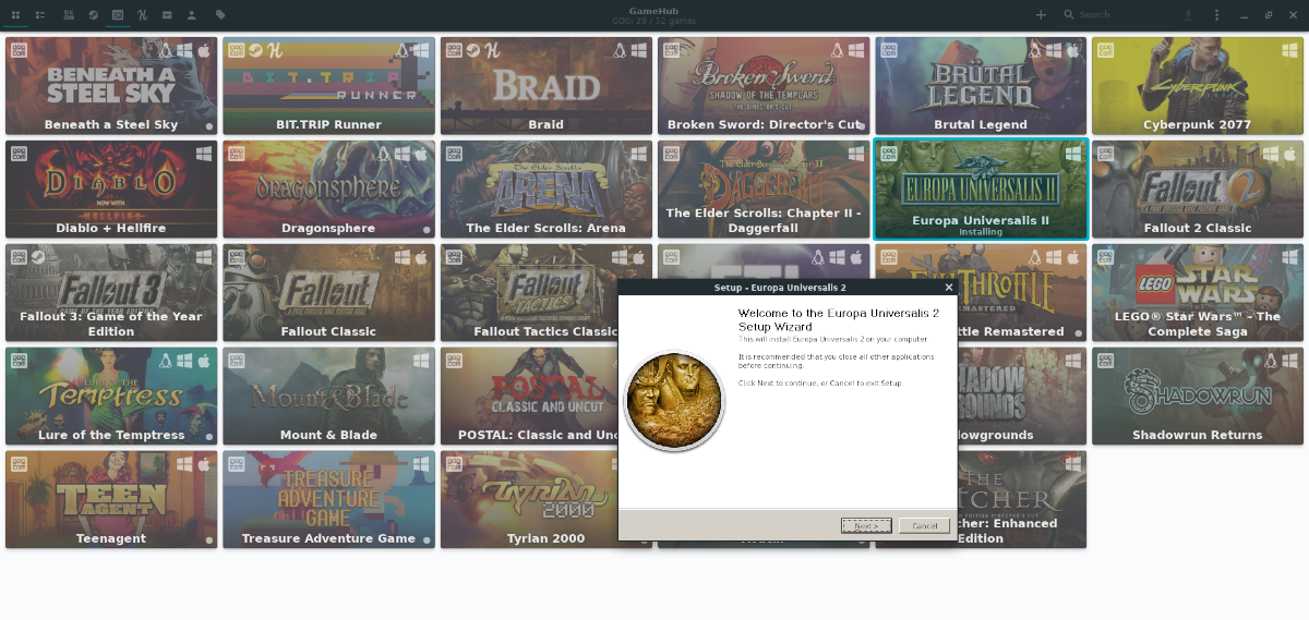 how to use gamehub to download steam gog and humble bundle games on How to use Gamehub to download Steam, GOG, and Humble Bundle games on Linux
