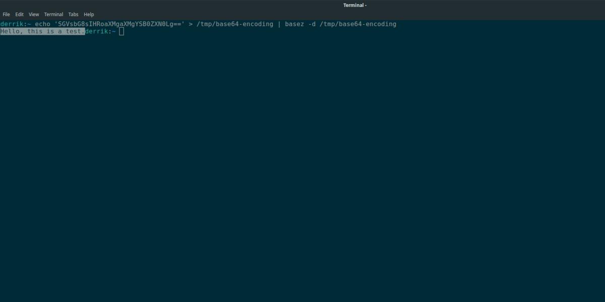 how to base64 decode on How to: Base64 decode on Linux