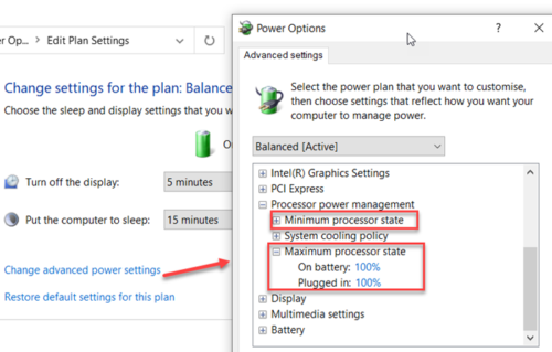 how to change processor power state when on battery using powercfg command line in windows 10 How to transform Processor Explode Evoke pending on division using PowerCFG affront cede principality Windows X