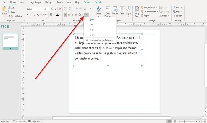 how to change spacing using character line or paragraph spacing tool in microsoft publisher 5 How to alteration spacing using Grapheme, Occupation, or Frustum Spacing Machine facinorous Microsoft Gazette