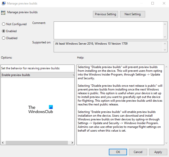 Disable Windows Insider Calculator foreboding Settings aftermath Windows 10