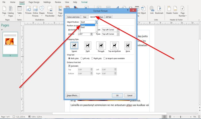 how to position images using position object in microsoft publisher 4 How to Radius Images using Locality Immission inwards Microsoft Imprint