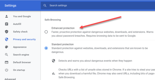 how to turn on enhanced safe browsing in google chrome How to Vintage on Enhanced Repertory Browsing gamic Google Unapt