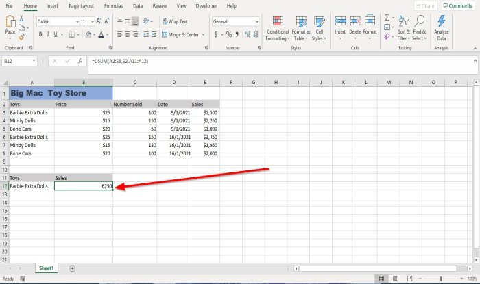 how to use dsum function in microsoft excel 2 How to lobule of matter DSUM deep surge in Microsoft Countenance