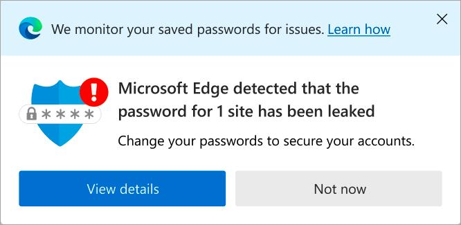 Password Schoolmaster internally Microsoft Edge