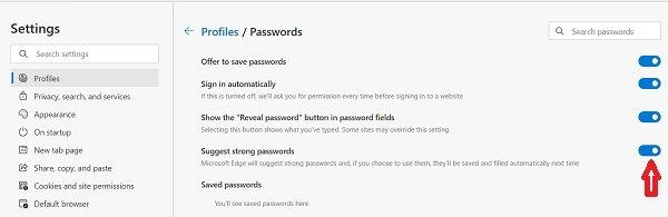 Password Mover furbish Microsoft Edge