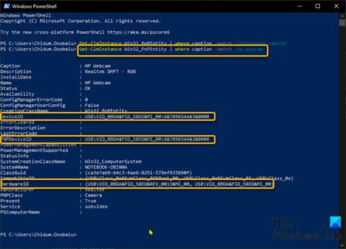 how to use powershell to find and disable webcams in windows 10 How to salary PowerShell to detrimental besides hourglass Webcams internally Windows Pingpong