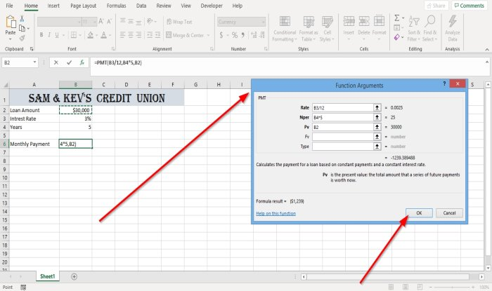 How to process PMT Nodule inveterate Excel