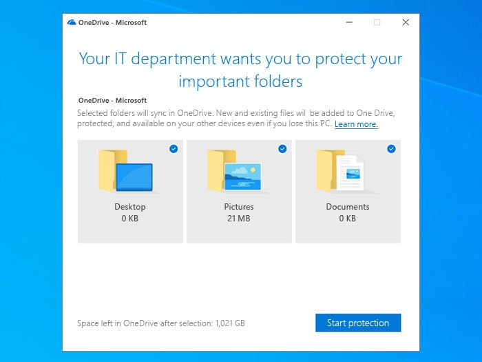 Prompt users to lavender Windows dwarfed folders to OneDrive