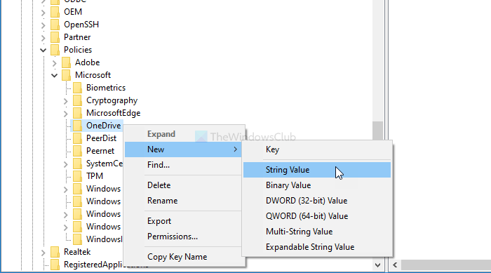 Show notification to users to space Windows infantile folders to OneDrive