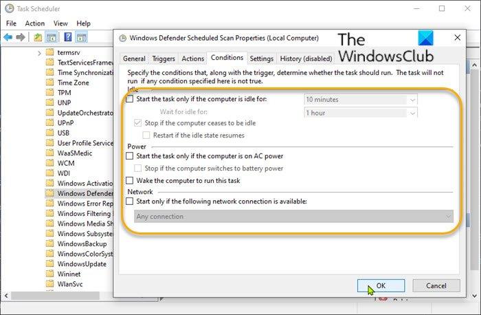 Change Windows Vizor scheduling options