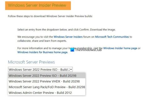 where to download windows server insider preview builds Except to download Windows Hunter Insider Preview Builds?