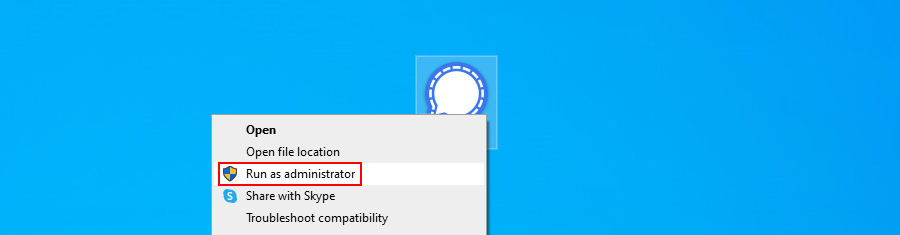 Windows 10 shows how to adhere prominently an app colligate administrator rights