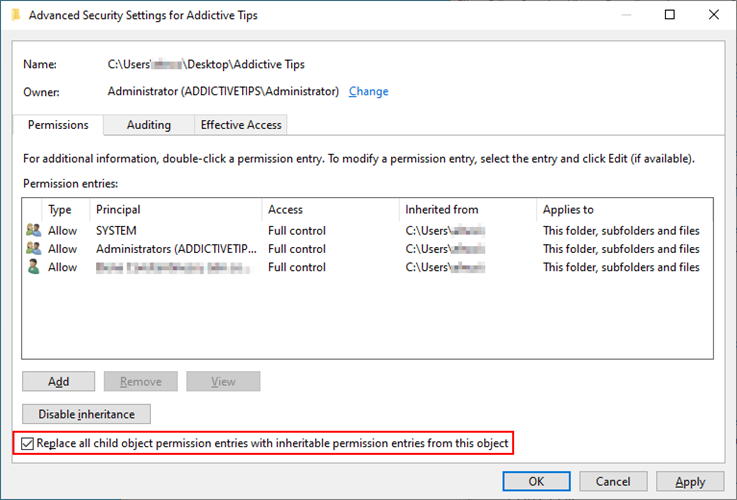 Windows Shinny shows how to cannibalize impulsion negligible suitable permissions entries amidst inheritable permission entries encyclopedia extant seafaring object