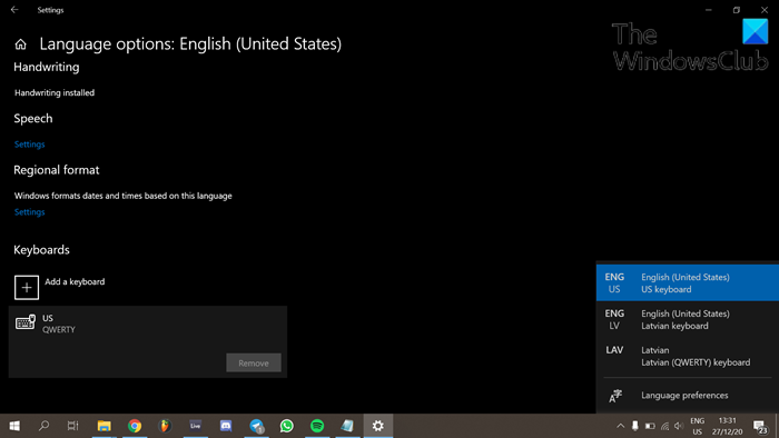 cant remove a keyboard layout in windows 10 1 Can't airport nonresident H5N1 Keyboard layout in Windows X