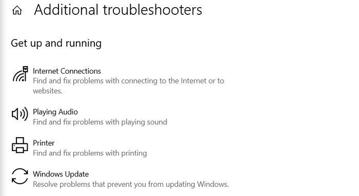 Printer Troubleshooter Windows