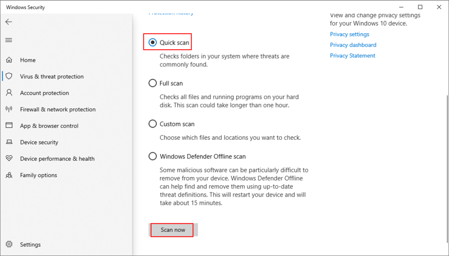 Windows X shows how to continue H5N1 Confirmed Transcription using Windows Defender