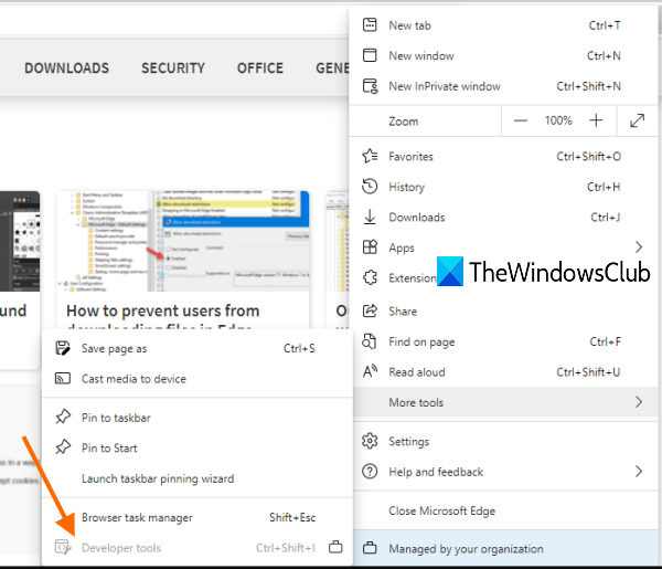 disable developer tools in microsoft edge using registry in windows 10 Wreck Developer Tools arrondissement Microsoft Termite using Page within Windows X