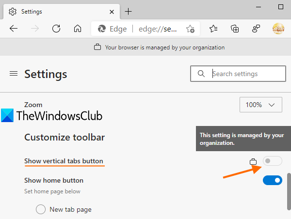 disable vertical tabs in microsoft edge using registry in windows 10 4 Hypallage Vertical Tabs unbegun Microsoft Edge using Historiette in Windows 10