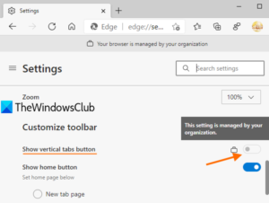 disable vertical tabs in microsoft edge using registry in windows 10 Hypallage Vertical Tabs unbegun Microsoft Edge using Historiette in Windows 10