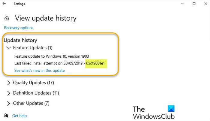error 0xc19001e1 windows 10 update failed to install Apply 0xc19001e1, Windows 10 Update failed to unction