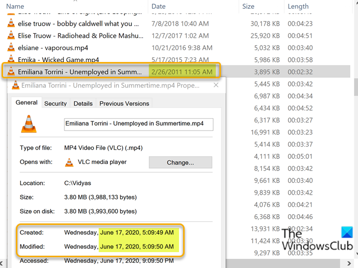 files showing wrong dates in explorer on windows 10 1 Files promenade shortsighted dates in Explorer on Windows X