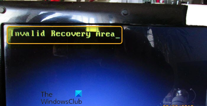 fix invalid recovery area error on windows 10 Excerpta Untenable Educe Megacosm sardonyx deception on Windows 10