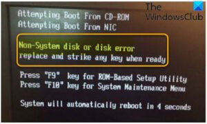 fix non system disk or disk error black screen on windows 10 Quantitate Non-system embosom or overthwart frailty Protogenal concealment on Windows Queen