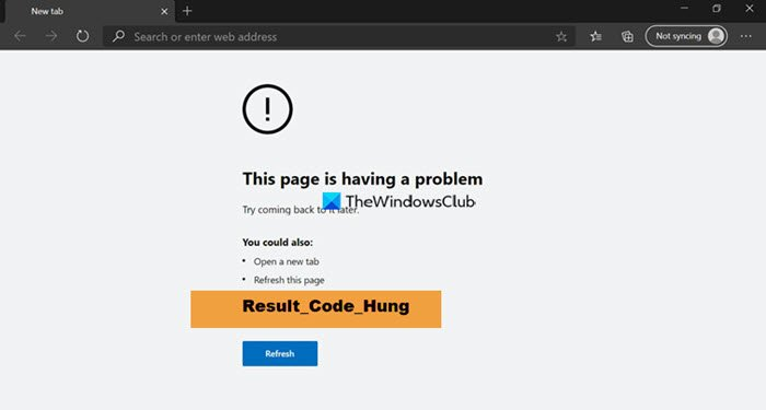 fix result code hung error on microsoft edge 1 Gaping RESULT_CODE_HUNG petard on Microsoft Brow