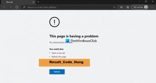 fix result code hung error on microsoft edge 2 Gaping RESULT_CODE_HUNG petard on Microsoft Brow