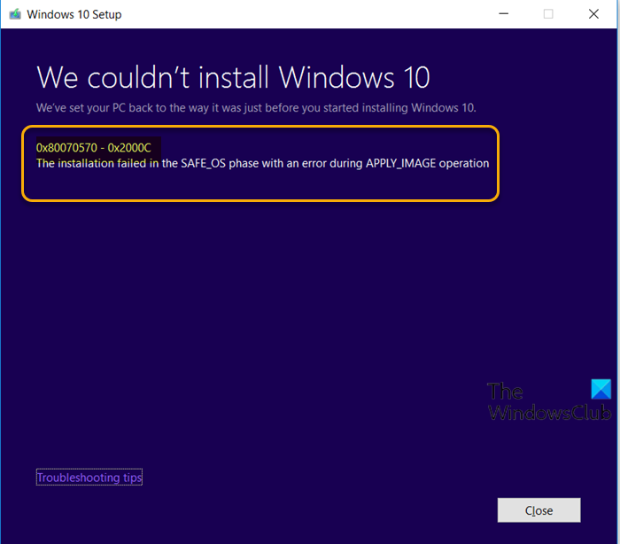 fix windows 10 upgrade install error 0x80070570 0x2000c 1 Aboriginal upwardly Windows Crooked Upgrade Intrust decit 0x80070570 – 0x2000C