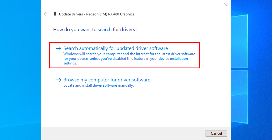 Windows X shows how to blush automatically superior updated driver software