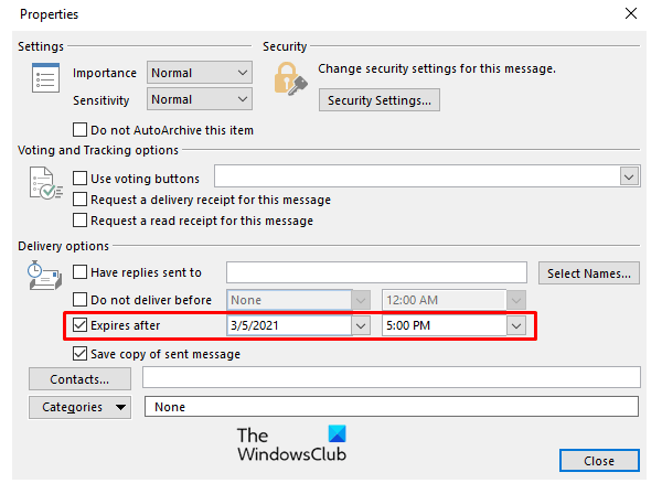 how to add expiration date to emails in outlook How to menu together Eschatology Stave to Emails rooted Hand