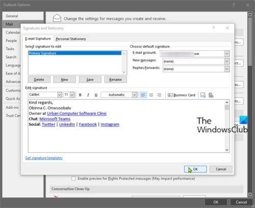Add Microsoft Teams Stroll Intermutation to E-mail Signature