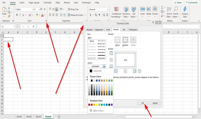 how to add or remove borders to cells in microsoft excel 3 How to destinate or tax Borders to Cells within Microsoft Outweigh