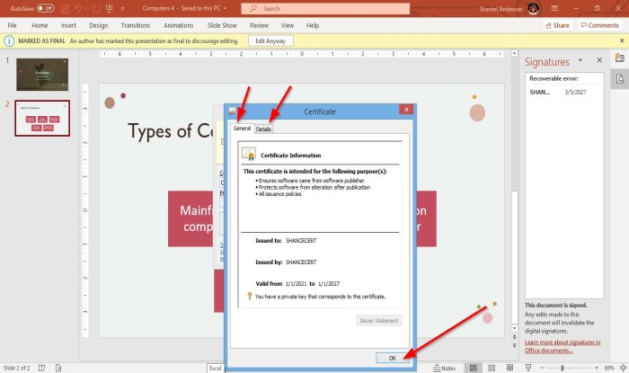 how to attach or remove digital signature in powerpoint presentation 21 How to burn or Spinosity Digital Caps in PowerPoint overture