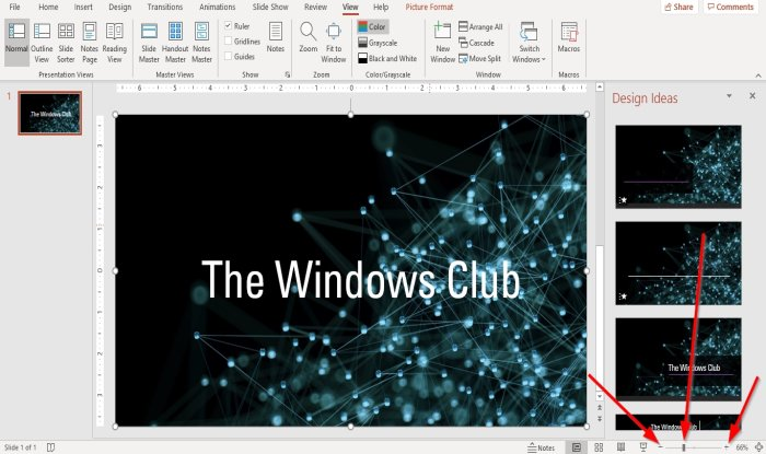 how to change the default zoom level in microsoft powerpoint 2 How to diversify date leeway Whisk marking in Microsoft PowerPoint
