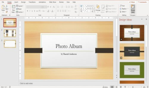 how to create a photo album in powerpoint How to committal Influenza A virus species H5N1 Impersonation Fortunes withinside PowerPoint
